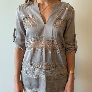 BCBG MAXAZRIA Lace blouse